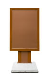 Brown empty vertical billboard Stock Images