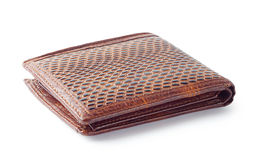 Brown empty wallet Royalty Free Stock Images
