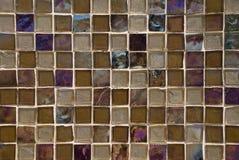 Brown entonó el fondo de cristal del azulejo Fotos de archivo libres de regalías