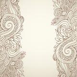 Brown-Entwurf mit Blumen auf Licht 01 Lizenzfreies Stockbild