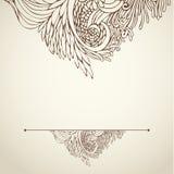Brown-Entwurf mit Blumen auf Licht 03 Lizenzfreie Stockbilder