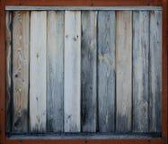 Brown envelheceu a madeira com quadro Fotografia de Stock