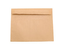 A brown envelop. Decorative on a recyling envelop Royalty Free Stock Photography