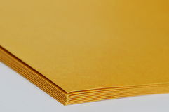 Brown envelop overlay on white background Stock Photography