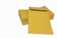 The brown envelop Royalty Free Stock Photo