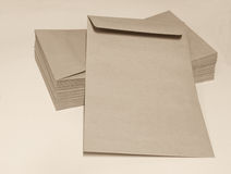 The brown envelop Stock Images