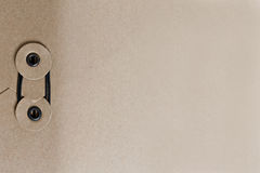 Brown envelope with binding seal Royalty Free Stock Image