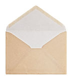 Brown Envelope, clipping path. Stock Photography