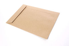 Brown Envelope document. On white background stock images