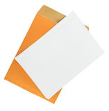 Brown Envelope document and paper with path Royalty Free Stock Photography