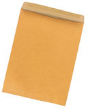 Brown Envelope document with path Royalty Free Stock Image