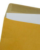 Brown Envelope document on a white background. Royalty Free Stock Image