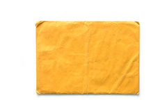 Brown Envelope document on white Stock Images