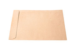 Brown Envelope document on white background Royalty Free Stock Image