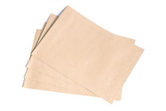 Brown Envelope document on white background Royalty Free Stock Photography