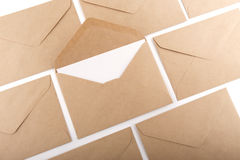 Brown Envelope document. On white background Stock Image