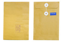 Brown envelope front and back Stock Photography