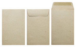 Free Brown Envelope Front, Back And Open Isolate On White Background. Royalty Free Stock Photography - 73234297