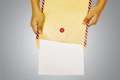 Brown Envelope Stock Photography