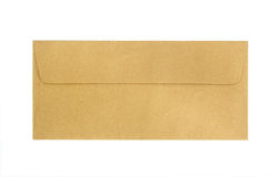 Brown envelope isolated Stock Photo