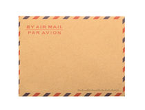 Brown Envelope isolated. close up Stock Photo