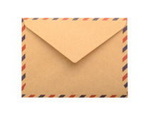 Brown Envelope isolated. close up Royalty Free Stock Photos