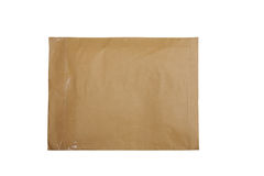 brown envelope  isolated on white Royalty Free Stock Image