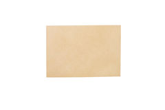 Brown envelope isolated on white background Royalty Free Stock Photos
