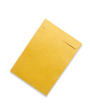 Brown envelope isolated on white Royalty Free Stock Photography