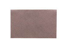 Brown envelope isolated on white background Royalty Free Stock Image
