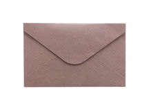 Brown envelope isolated on white background Royalty Free Stock Photography