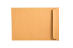 Brown Envelope isolated on a white background. Clipping paths in Royalty Free Stock Images