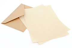 Brown Envelope With Letter Paper Royalty Free Stock Photography