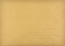 Brown envelope made ​​of striped paper Stock Photos