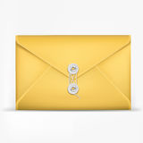 Brown Envelope with rope. Stock Image