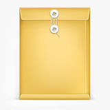 Brown Envelope with rope. Royalty Free Stock Image