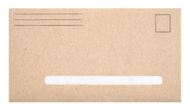 Brown envelope with space for address Stock Photo