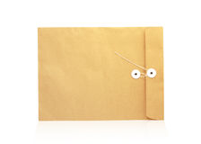 Brown envelope  on white background Royalty Free Stock Photos