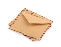 Brown Envelopes isolated. close up Royalty Free Stock Photos
