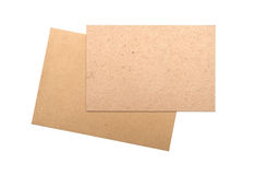 Brown enveloppe le carton Photo libre de droits