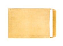 Brown envuelve con el papel A4 dentro Imagenes de archivo