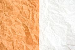 Brown et blanc ont ridé la texture de papier, fond de concept photos libres de droits