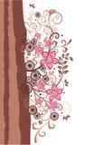 Brown et cadre floral de rose Illustration Libre de Droits