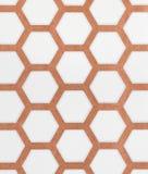Brown et fond blanc de papier peint de modèle d'hexagone Image stock