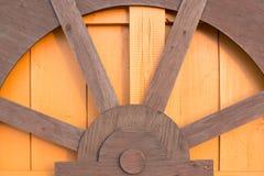 Brown et modèle jaune de mur en bois de rizerie Image libre de droits