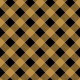 Brown et mod?le beige eps10 de texture de tissu de plaid de tartan illustration stock