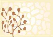 Brown et ornement rose Image libre de droits
