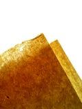 Brown et papier fabriqué à la main orange Photographie stock libre de droits