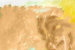 Brown et peinture beige d'art abstrait Photos libres de droits