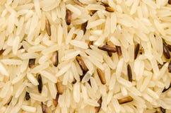 Brown et riz noir Photos libres de droits